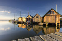 boat houses on the baltic sea