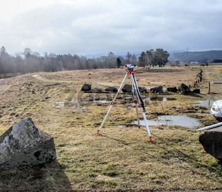Surveying of slag heaps on the river 'Innerste' near Bredelem, Goslar
