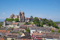 View from Eckhartsberg of Old Breisach with the Romanesque St. Stephans Cathedral