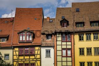 historiche Fachwerkhaeuser in Erfurt