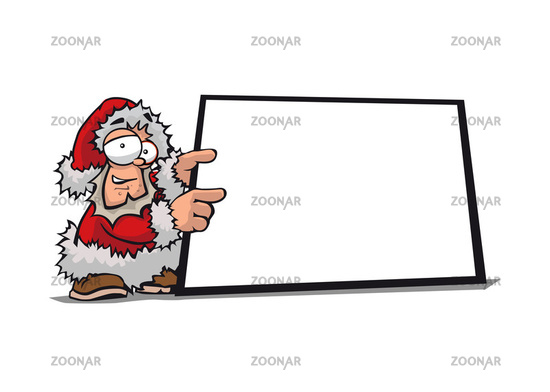 Weihnachtsmann mit Display