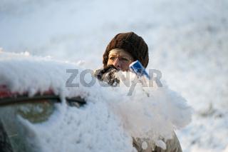 Schnee abwischen