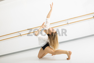 female dancer in action