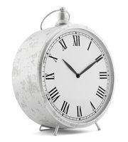 vintage clock isolated on white background. 3d illustration