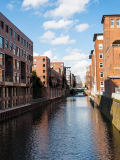 Herrengrabenfleet canal in Hamburg city