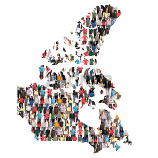 Kanada Karte Leute Menschen People Gruppe Menschengruppe multikulturell