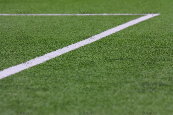 Football pitch, box in blur