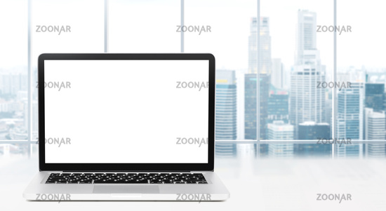 Desktop with panoramic view