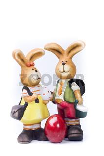 Osterhase und Osterfrau wd570