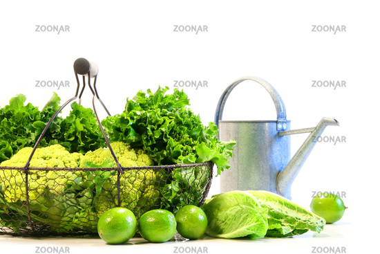 Vegetables and limes