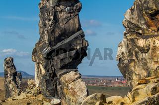 Teufelsmauer Harz bei Weddersleben Thale