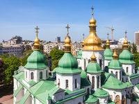 domes of Saint Sophia Cathedral and Kiev city