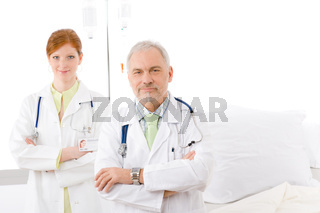 Medical team - portrait two doctor hospital