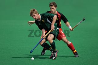 Mens field hockey action