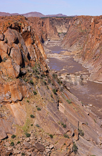 Der Oranje River im Augrabies Falls National Park, Regenzeit, Südafrika; Oranje River at Augrabies Falls National Park, rain saison, south africa