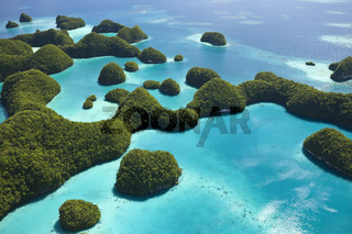 Insel Long Beach in den Rock Islands, Mikronesien, Palau, Long Beach Island at Palau, Micronesia