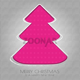 Papier Weihnachtsbaum pink