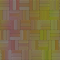 seamless texture of intertwined red to yellow floor stones