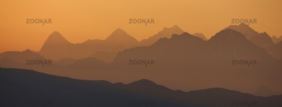 Golden sunrise near Gstaad
