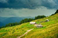 Carpathians mountains farm. Ukraine