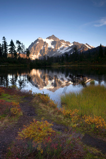 Mt Shuksan Reflection Picture Lake North Cascade Mountains