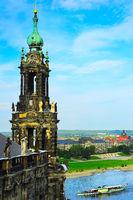 The Kreuzkirche church. Dresden, Germany