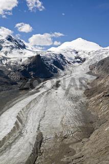 Grossglockner Berggruppe mit Pasterze Gletscher, Franz Josefs Hoehe, Nationalpark Hohe Tauern, Kaernten, Oesterreich, Grossglockner mountain group and glacier Pasterze, Carinthia, Austria