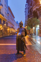 Statue of Policeman in Budapest Hungary