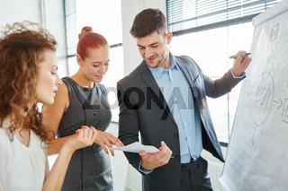 Berater macht eine Präsentation