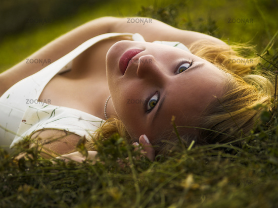 Woman during springtime