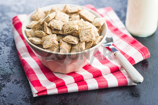 Breakfast cereal squares.