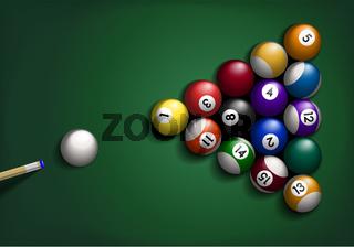 Billard Balls on Green