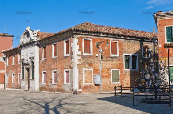 Garibaldi street located at Murano Island, Italy