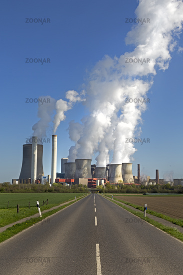 Lignite-fired power plant Niederaussem, operated by RWE Power, Bergheim, Northrhine-Westphalia, Germ