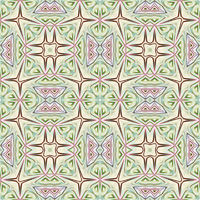 seamless texture of folk art fabric print