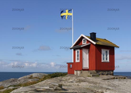 little house of pilots on the island Vrångö in sweden
