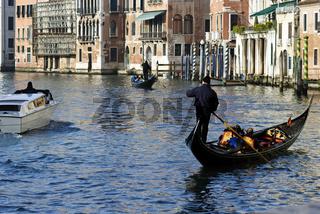 Italien Venedig Gondoliere Tourist