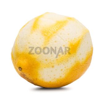 Peeled lemon fruit