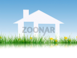Grass and House