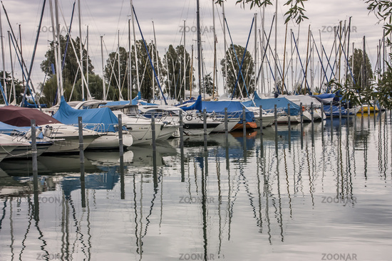 Yacht harbour near Constance, Lake of Constance