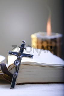 Cross and Holy Bible