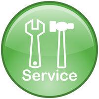 Service-Button (grün)