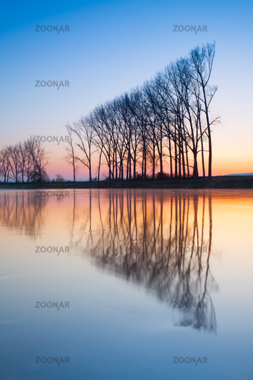 Symmetry - autumn morning on the river