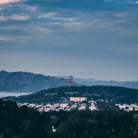 A great view to the Golden Gate Bridge in San Francisco
