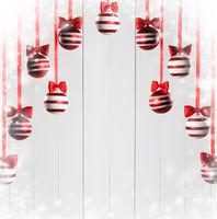 Christmas ball hanging on white