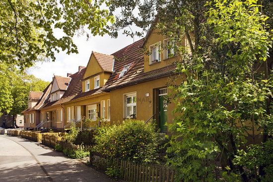 garden city and residental zone of miners Lohberg, Dinslaken, Ruhr Area, Germany, Europe