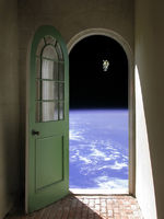 Space Walk through Arched Doorway