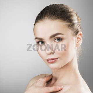 Beauty woman face portrait