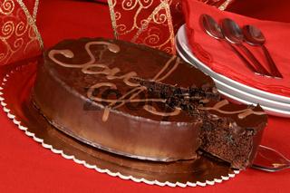 Sacher torte chocolate cake