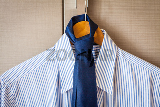 Business shirt ready for the trip